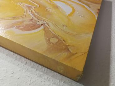 Acrylic Fluid Painting Abstrakt Gold